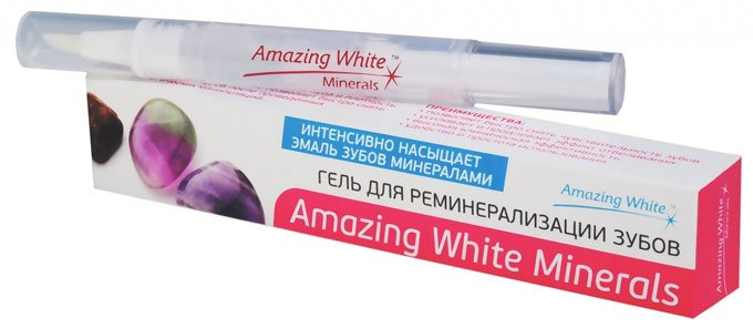 гель для ременерализации зубов amazing white
