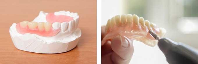 из чего делают съемные зубные протезы