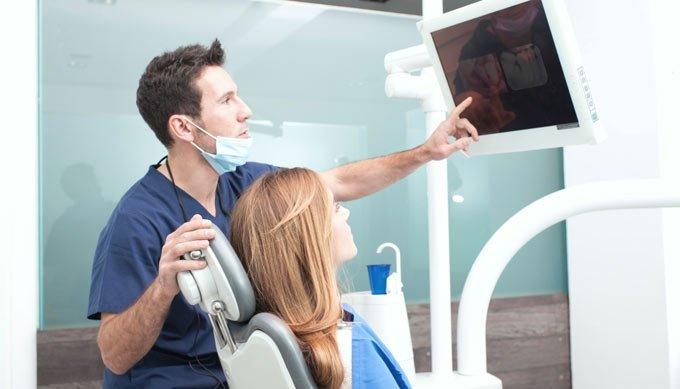 снимок зубов можно сразу увидеть на экране